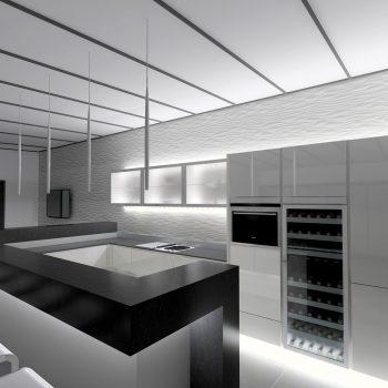 La cuisine esprit bar réalisée par le magasin L'intérieur Nantes