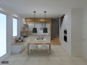 La cuisine en escalier réalisée par le magasin L'intérieur Nantes