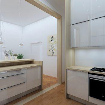 La cuisine dissimulée réalisée par le magasin L'intérieur Nantes